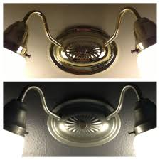 spray painted brass light fixture to a brushed metal home paint brass chandelier white paint brass door knobs