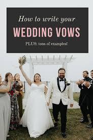 wedding vows how to write them plus