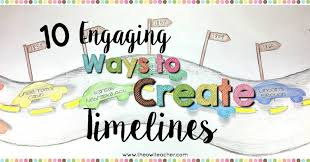 Creative Timelines For Projects 10 Engaging Ways To Create Timelines The Owl Teacher