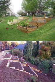 sloped backyard landscaping