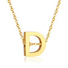 d d 5e monster sheet fashion jewelry letter d pendant necklace in pendant necklaces from