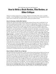 How To Write A Good Book Review How To Write A Book Review Film Review Or Other Critique