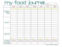 Sample Food Journal Template 013 Food Diary Template Excel Journal Sample Impressive