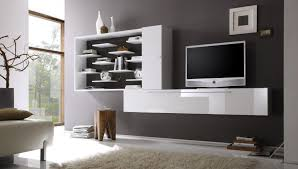 Having Three Sectioen Open Shelves Of Floating Tv Cabinet With And - Livingroom cabinets