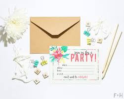 Tropical Party Invitations Free Printable Tropical Party Invitation Fox Hazel