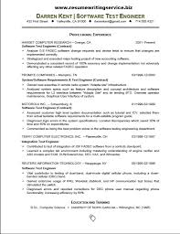 Microsoft Test Engineer Sample Resume