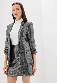 Женские пиджаки и <b>жакеты</b> серебристые купить в интернет ...