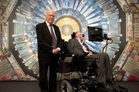 who is stephen hawking universe today on 12 peter higgs and stephen hawking ed the collider exhibition at london s