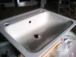high quality finish on this sink after restoration