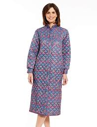 Ladies Lightweight & Long Dressing Gowns - Womens Housecoat - Chums & Quilted Housecoat Adamdwight.com