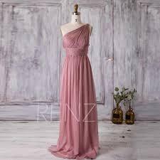 2016 dusty rose bridesmaid dress long chiffon maxi dress