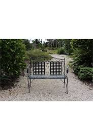 black metal garden bench seat