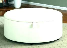 diy round ottoman with storage tufted circle coffee table catchy large