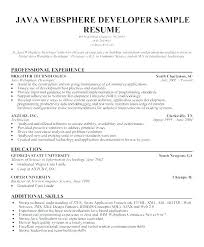 Java Web Sphere Developer Resume Cool Front End Developer Resume Java Front End Developer Sample Resume