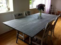 reclaimed wood grey wash brilliant black dining room table diy diy concrete dining table top