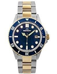 amazon co uk rotary watches rotary aquaspeed men s quartz watch blue dial analogue display and multicolour stainless steel