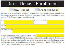 Direct Debit Form Free PNC Bank Direct Deposit Authorization Form - PDF