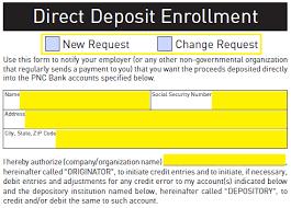 Free Pnc Bank Direct Deposit Authorization Form - Pdf