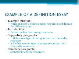 types of essays example