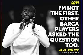 yaya toure goes after guardiola