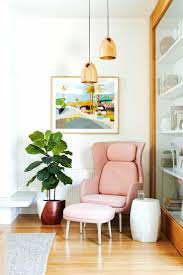 corner decoration furniture. How To Decorate Awkward Corner With Pink Chair And Small Table Flower Vase Decoration Furniture L