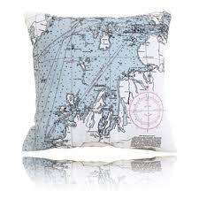 Nautical Chart Pillows Northwest Michigan Outdoor Pillow