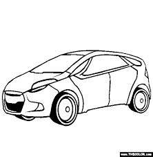 Small Picture Car Coloring Page Hyundai HRD5 Concept Car Coloring Page
