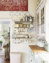 stainless-steel shelves in a kitchen