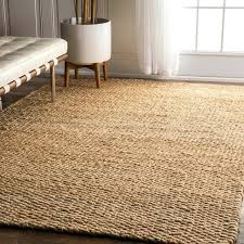 hand woven jute beach style hall and stair runners by runner with border natural solid rug