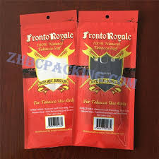China Laminated Material Slider Ziplock Plastic Cigar Packaging Bag