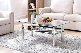 unique glass coffee tables rectangle tempered glass coffee table glass top coffee tables with metal base