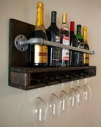Dark Wood Pallet Wine Rack