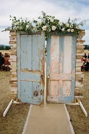 vine door wedding decoration ideas light blue vine door ceremony entrance