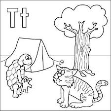 Small Picture T coloring pages