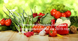 <b>Лунный календарь</b> садовых и огородных работ на <b>2019</b> год ...
