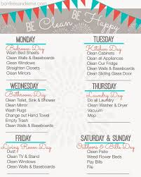Weekly Household Cleaning Schedule Bonfires And Wine Weekly Cleaning Schedule Free Printable Chore