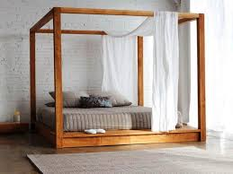 Queen Canopy Bed Frame Wooden : Sourcelysis - Ideas Of Platform ...