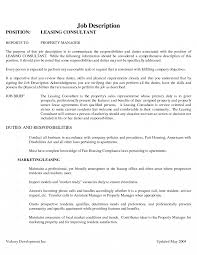 Sample Apartment Leasing Consultant Resume Job And Agent For With No