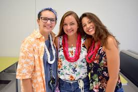 PHOTOS: Windermere High Hawaiian Senior Tailgate - Mackenzie Peck, Mackenzie  Johnson and Ana Carolina Cunha donned their leis with pride.   West Orange  Times & Windermere Observer