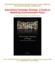 Advertising Plan Pdf Exceptional Advertising Campaign Strategy A Guide To