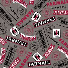 Quilted Treasures Farmall Show 1649 26453K Dk. Grey - Ma's Got'a ... & Quilted Treasures Farmall Show 1649 26453K Dk. Grey Adamdwight.com