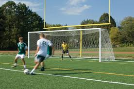 grass soccer field with goal. Collegiate Complete Football Goal Post And Soccer Package 1 Grass Field With