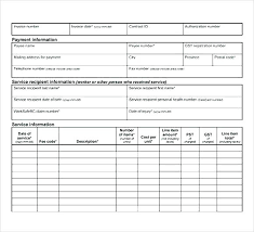 Billing Form Template Medical Billing Statement Forms Invoice Template Free Printable Form