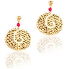 calima earrings manila pre colombian jewelry
