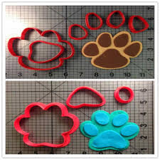 Panther Paw Embroidery Design Cartoon Panther Paw Clues Cookie Cutters Set Paw Baby Feet