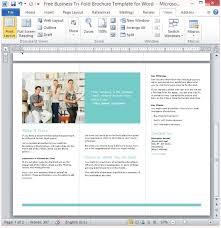 Tri Fold Brochure Template Word 2013 Microsoft Tri Fold