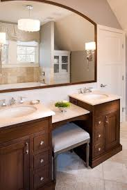 makeup vanity table bathroom traditional with stone floor teak shower benches and seats