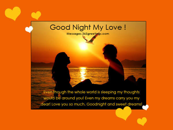 best good night messages for him