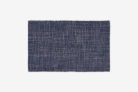 crate barrel della gray cotton flat weave rug