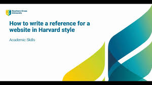 Websites Harvard Referencing Style Libguides At Southern Cross